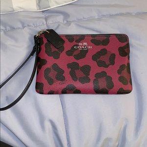 Coach cheetah print wallet